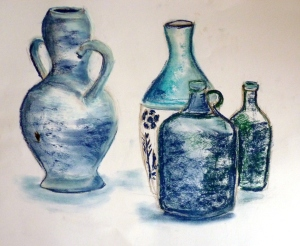 jarre, vase,bouteilles