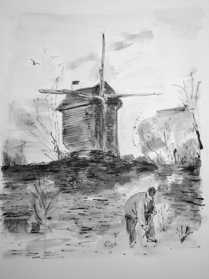 Le moulin de montmartre