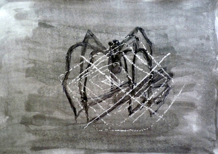 araignée craie conté