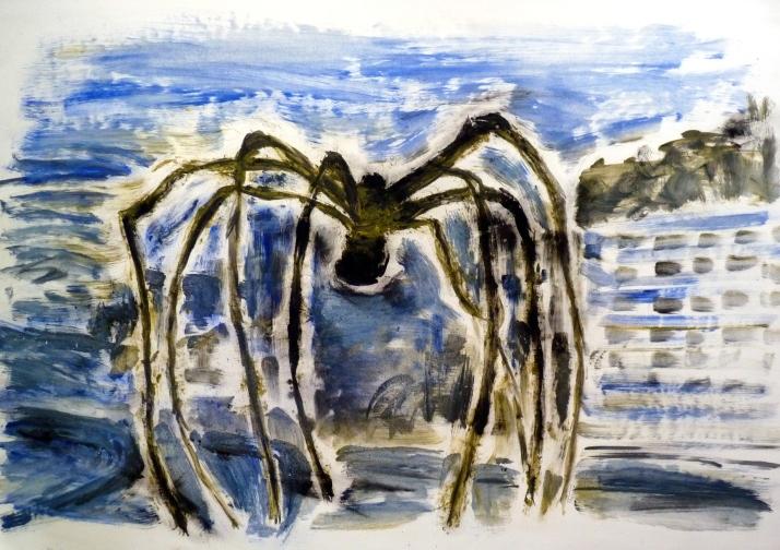 araignée huile et pigments